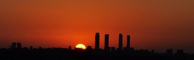 #Madrid Skyline at sunset #ilovemadrid