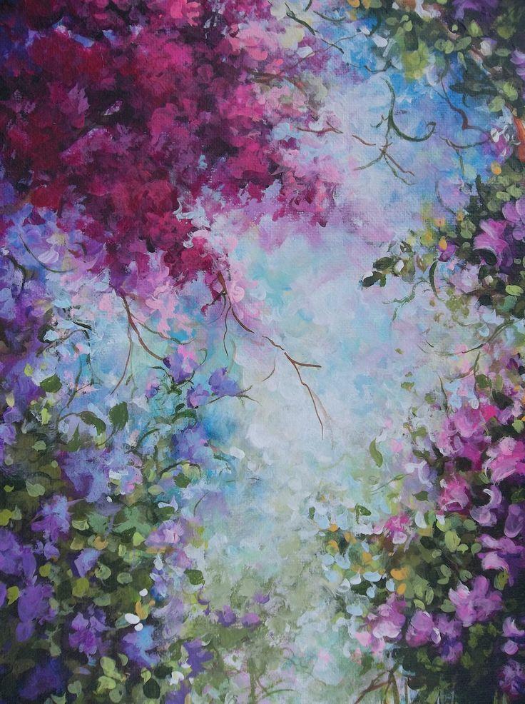 Este eu vou pintar Landscape Floral Painting