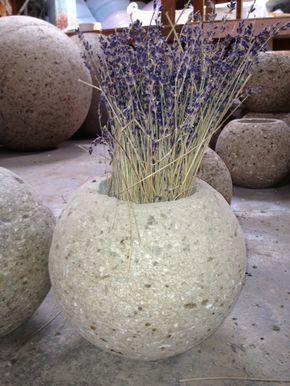 Hypertufa Sphere Planter