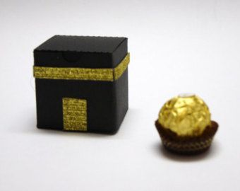 20 Hajj Party favor boxes. 2 inches tall, fits two ferrero rochers, Hajj Umrah welcome back Party, Eid Party