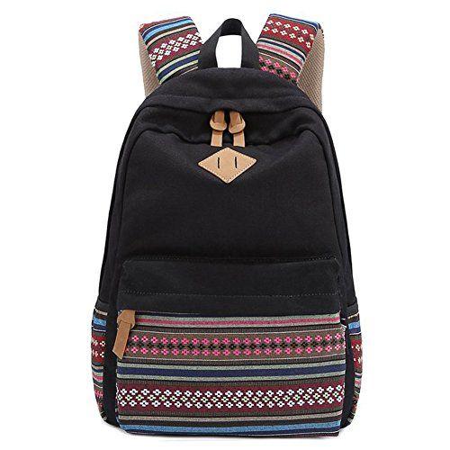 Coofit® Vintage Aztec Tribal Preppy Style Canvas School Backpack (Black) Coofit http://www.amazon.com/dp/B00OT8WD4U/ref=cm_sw_r_pi_dp_XsICwb0WCE7N0