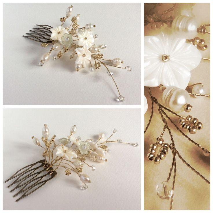 #bijou #pin #forhair #comb #haircomb #shell #beads #wedding #weddingcomb #свадебныйгребень #гребешокдля свадебнойпрически #гребеньдляневесты #дляневесты