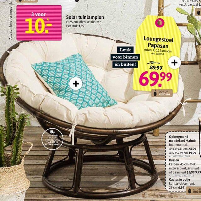Papasan lounge stoel
