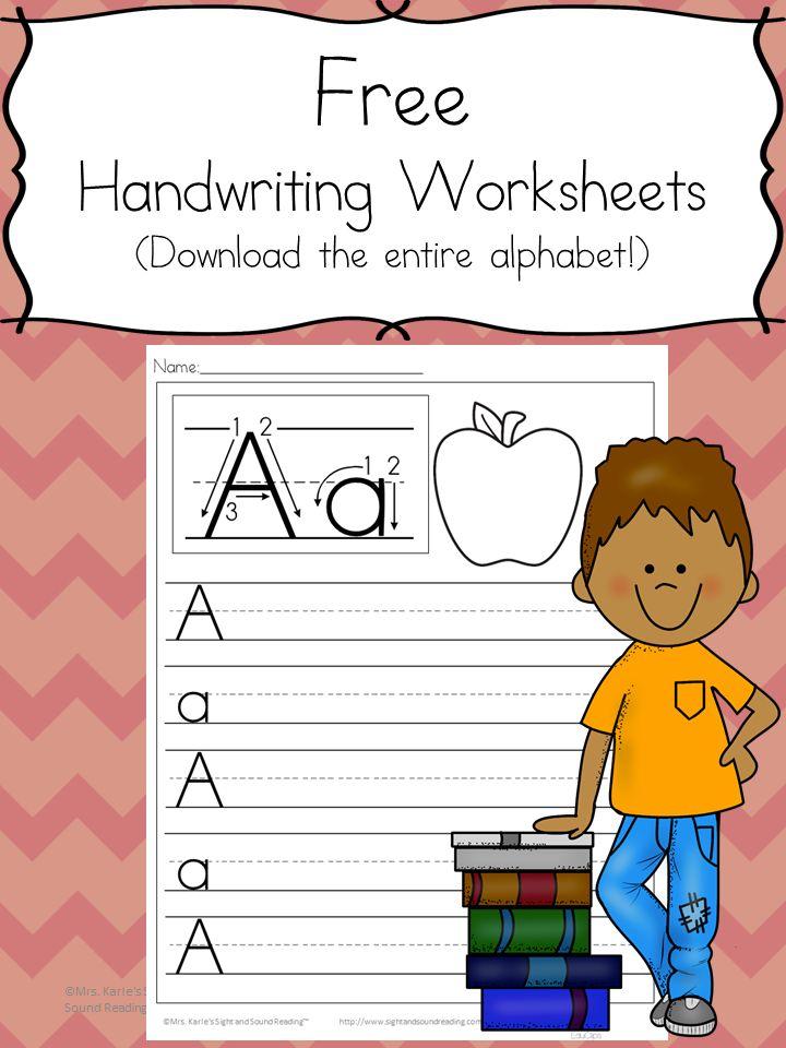 Preschool Handwriting Worksheets - Free practice pages