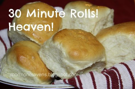 Mormon Mavens in the Kitchen: 30 Minute Rolls! Can't wait to try these!