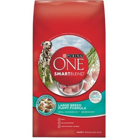 Purina ONE SmartBlend Large Breed Puppy Formula Puppy Premium Dog Food 16.5 lb. Bag, Multicolor
