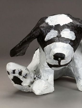 Craft fun and easy paper mache dogs. | easy kids crafts