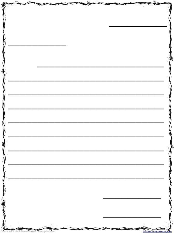 Friendly Letter Template For 3rd Grade Theveliger Writing