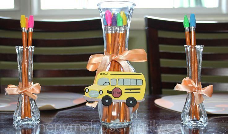 Back to School Centerpieces  #backtoschool #centerpiece