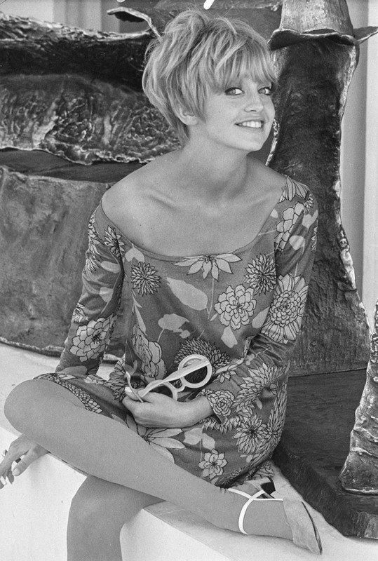 Goldie Hawn has always been adorable. She was the ultimate hippie girl to me.