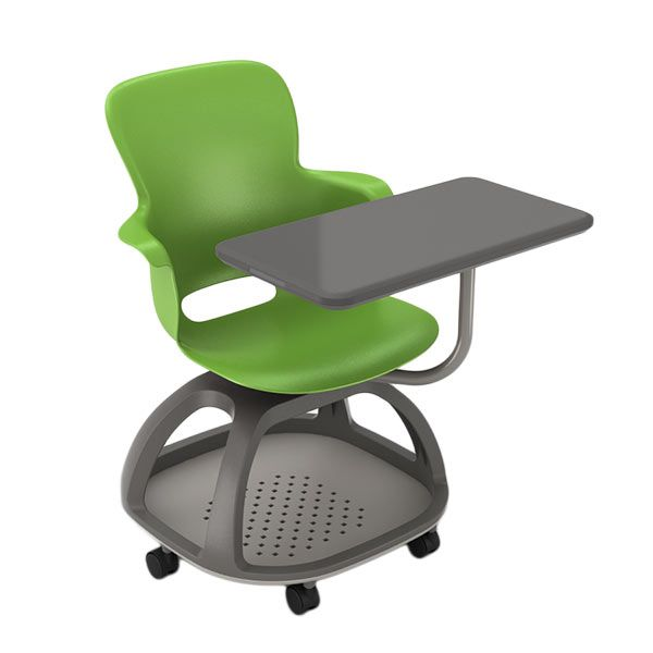 Create a classroom that encourages blended learning, collaboration and independent thinking with this Haskell Ethos Series Combo School Desk. The mobile Ethos Desk features a one-piece, ergonomic plastic seat that swivels 360 degrees for ideal sight lines and collaboration during active learning