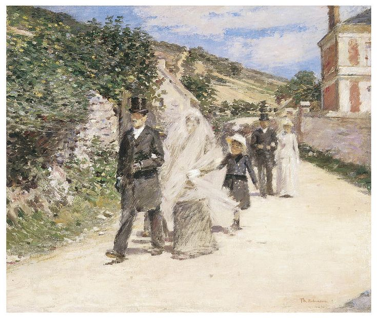 1892 Theodore Robinson The Wedding March Huile Sur Toile 56 3 Cm