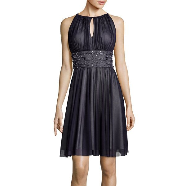 4b124fc69c3 La Nouvelle Renaissance Sleeveless Beaded-Waist Halter Dress - JCPenney