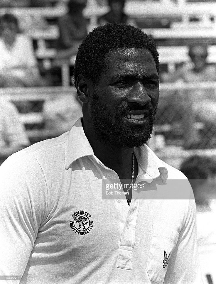 Cricket, 30th May 1982, Glamorgan, Wales, John Player League, Glamorgan v Somerset, Somerset and West Indies legend Viv Richards