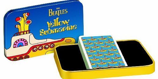 Cartamundi The Beatles Yellow Submarine Playing Cards in Metal Tin Officially licensed Apple Corps / Subafilms Ltd merchandise Special Edition gilt edged Playing Card Set. Housed in an embossed presentation tin with a card picture slipca (Barcode EAN = 5411068662270) http://www.comparestoreprices.co.uk/card-games/cartamundi-the-beatles-yellow-submarine-playing-cards-in-metal-tin.asp
