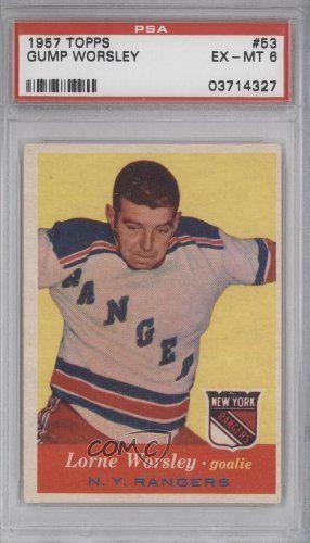 gump worsley hockey cards | Gump Worsley PSA GRADED 6 (Hockey Card) 1957-58 Topps #53 by Topps. $ ...