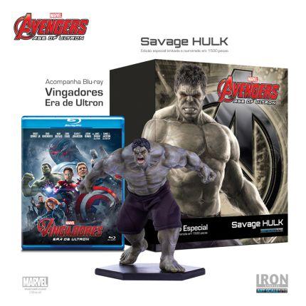 [Saraiva] Savage Hulk 1/10 - Edição Limitada - Filme em Blu-ray + AF - R$ 179,91