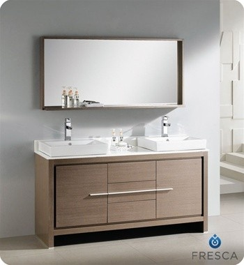 Gallery For Photographers Fresca Allier Inch Gray Oak Modern Double Sink Bathroom Vanity With Mirror Home Depot Canada