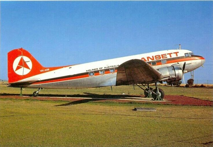 ANSETT Airlines of Australia Postcard Douglas DC-3-202A. Limited edition only 600 postcards printed