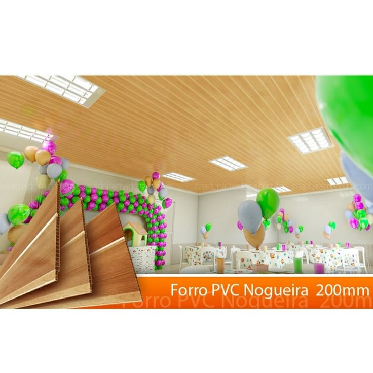 Forro Linear de PVC Polifort 8mm x 20cm x 6m (m²)