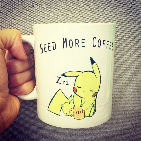 Pikachu Pokemon Anime Fan Mug Bulbasaur by SincerelyEunice on Etsy