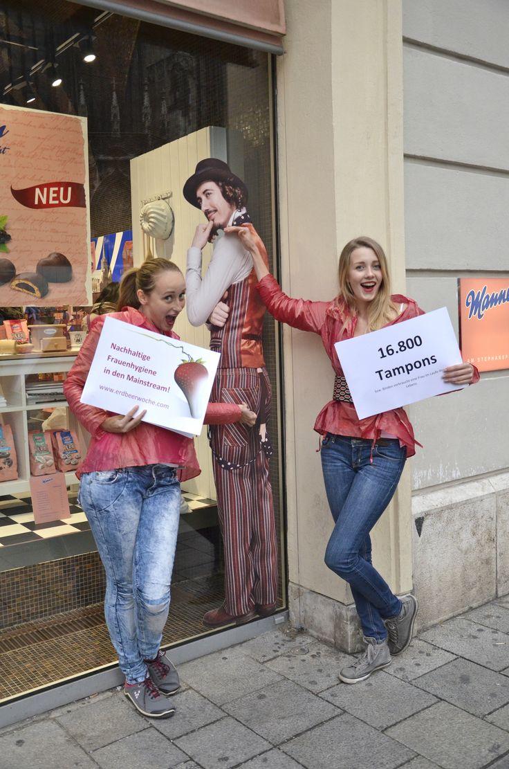 16.800 Tampons   www.erdbeerwoche.com  Wir bringen nachhaltige Frauenhygiene in den Mainstream!