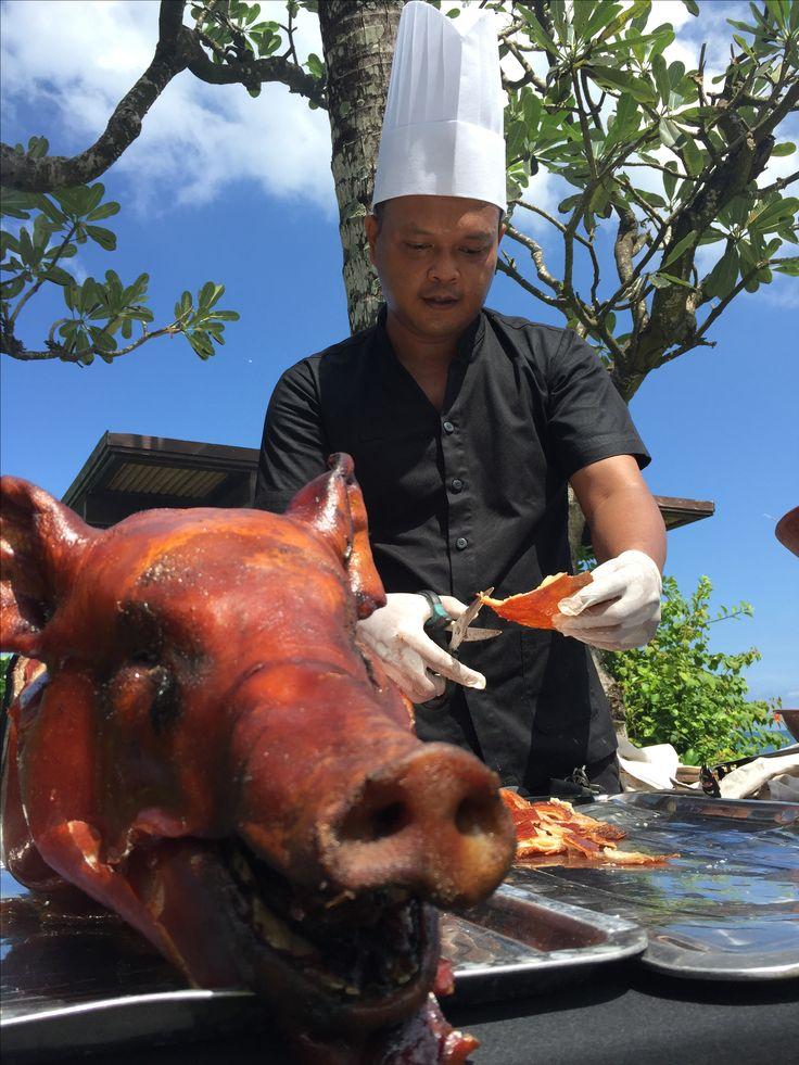 Suckling pig babi guling by lumbung catering bali