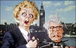 Spitting Image -  Best theme tune. I was too young to really get it but I loved Maggie and Dennis and I would do impersonations of her character all the time haha brilliant!