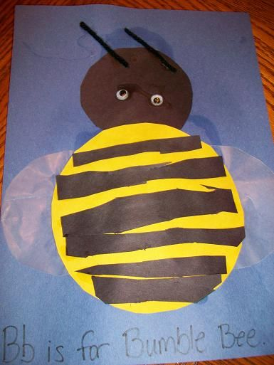 bee craft | found a cute B is for Bumble Bee craft over at Homeschool Creations ...