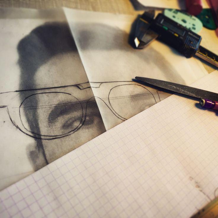 Dessin lunettes préparation