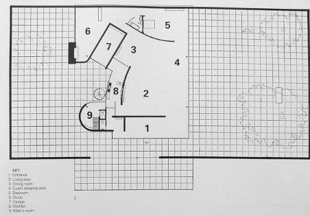 CASAS PATIO con garaje (1931-38) , Mies Van Der Rohe
