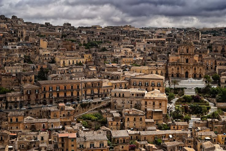 The town of Modica, Sicily..