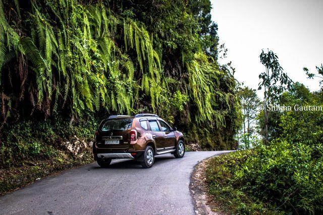 Road to Dzongu from Gangtok. Sikkim, India