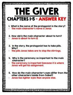 lois lowry comprehension questions and the giver on
