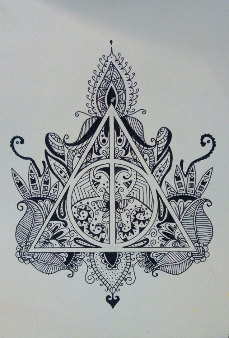 Dessin au feutre noir harry potter mandala tattoo ideas harry potter tattoos harry potter - Harry potter dessin ...