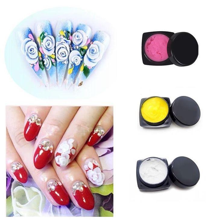 1 unid Pegamento de Uñas Para la Decoración de Manicura UV 3D Escultura Gel de Uñas de Arte Consejo Decoración Creativa Belleza Pegamento de Uñas # M01806