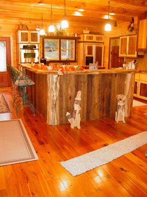 Red Cedar Kitchen Red Cedar A Cedar Stump Is Used