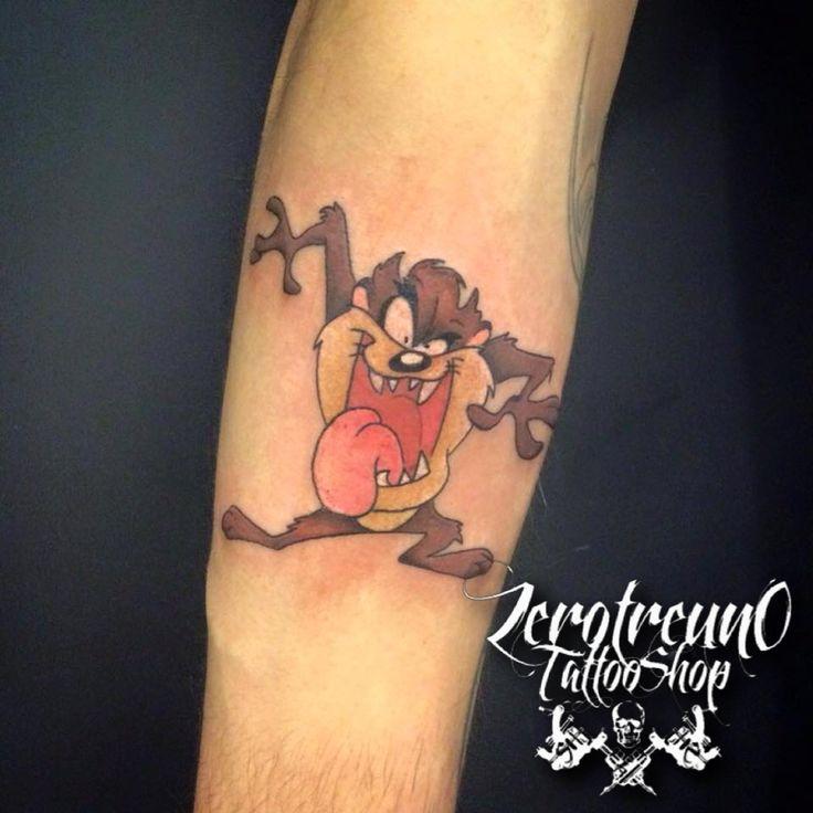 Tazmania - Cartoon - Tattoo Follow me -> 031 Tattoo Shop www.fb.com/031tattooshop #031tattooshop #cartoontattoo