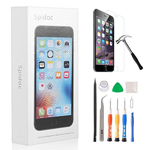 Spidoc LCD Touch Screen Digitizer Frame Assembly Full Set LCD Screen Replacement For iphone6 With Repair Tools - iPhone 6S Plus Black LCD  https://topcellulardeals.com/product/spidoc-lcd-touch-screen-digitizer-frame-assembly-full-set-lcd-screen-replacement-for-iphone6-with-repair-tools/?attribute_pa_color=iphone-6s-plus-black-lcd  PERFECT FIT FOR IPHONE 6S PLUS–Great replacement for iPhone 6S PLUS damaged, cracked, shattered screen, or screens with display problems, dea