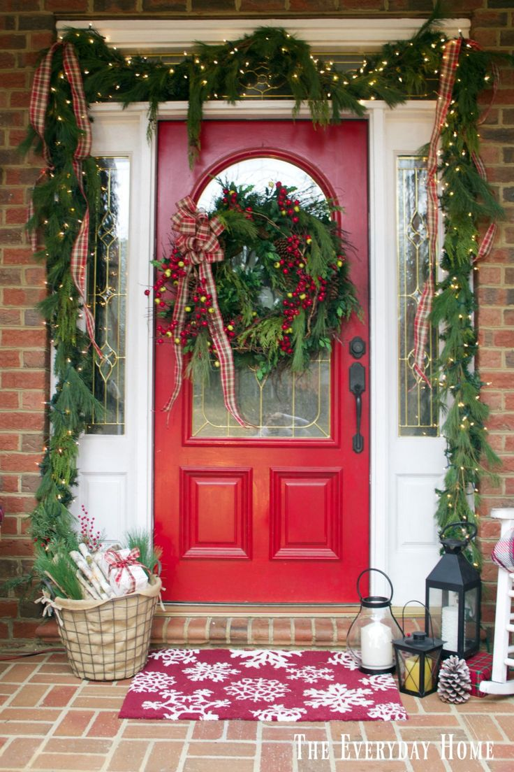 Perfect An Old Fashioned Christmas Front Porch With Flannel And Greenery