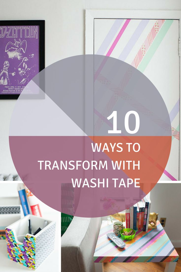 10 Ways to Transform Your Space With Washi Tape  Handmade  ~ 185320_Washi Tape Dorm Room Ideas