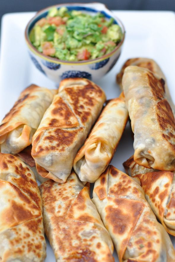 Baked Southwestern Egg Rolls | I will be adding chicken to these and leaving off the spinach because my family only eats it raw in salads, etc.