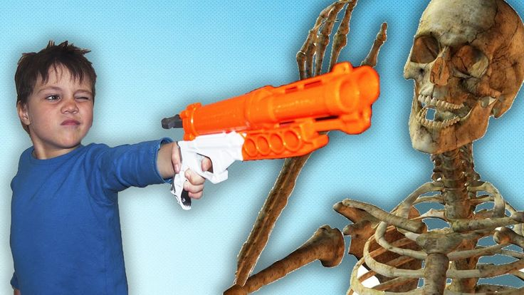 BAD BABY Нерф война со СКЕЛЕТАМИ NERF WAR with STALKER SKELETONS