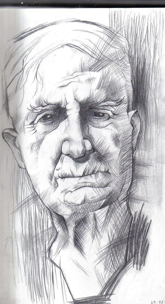 old mans face drawing - photo #43