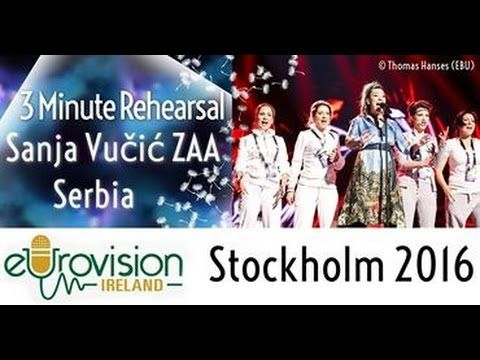 Eurovision 2016: Second rehearsal of Sanja Vučić ZAA from Serbia with 'Goodbye (Shelter)' - YouTube