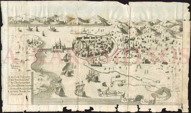 """Abbildung der Festung und Stadt Negroponte"" [View of the fortress and town of Chalkis]"