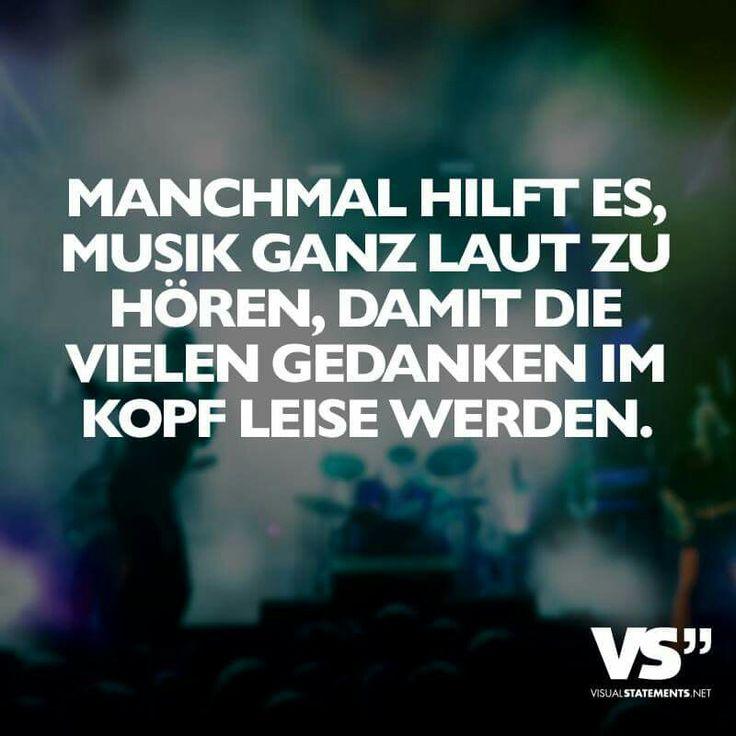 Manchmal hilft es, Musik ganz laut zu hören, damit die vielen Gedanken im Kopf leise werden ♡ #VisualStatement