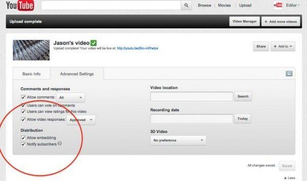#Youtube añade funciones para darnos más control a la hora de publicar vídeos