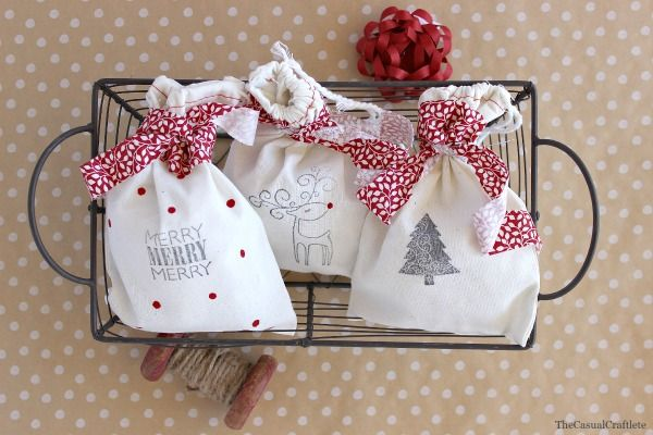 Stamped Christmas Gift Bags::Bloggers Best 12 Days of Christmas