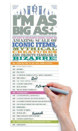 Luckies I'm As Big As Messtabelle zum Messen der Körpergröße (in englischer Sprache): Amazon.de: Küche & Haushalt